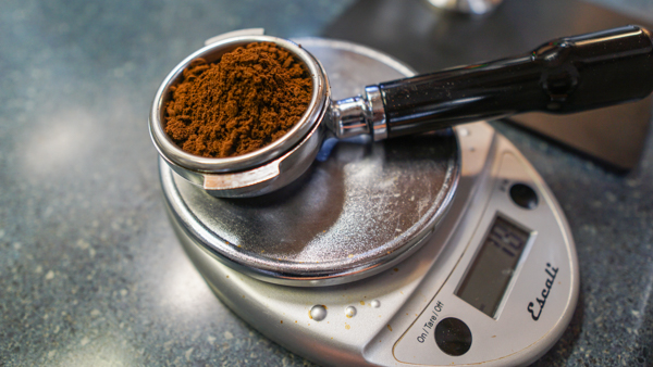 Measuring Out Coffee in a Portafilter