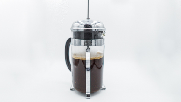 French Press during extraction
