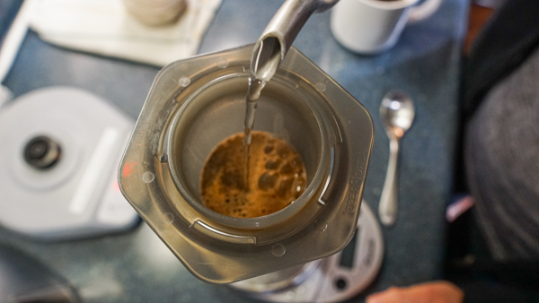 Brewing in an Aeropress