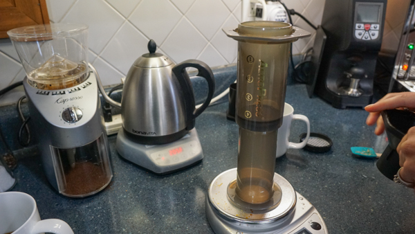 Inverted Aeropress Brewing