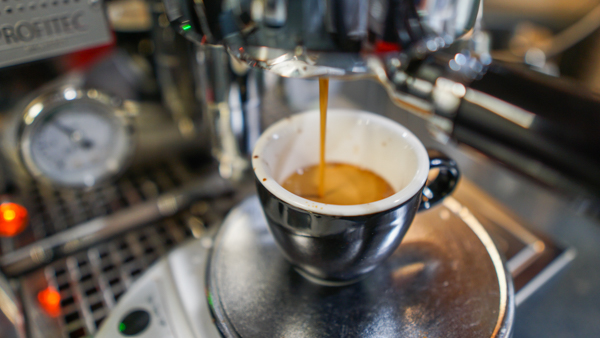 Thick Walled Espresso Cup Getting a Shot
