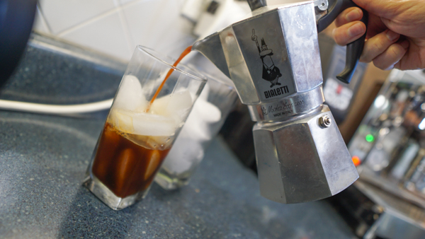 Flash Iced Coffee with Moka Pot
